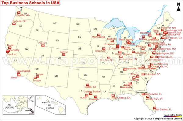 MAP The Top College Destinations In America Business Insider - Best education map of us